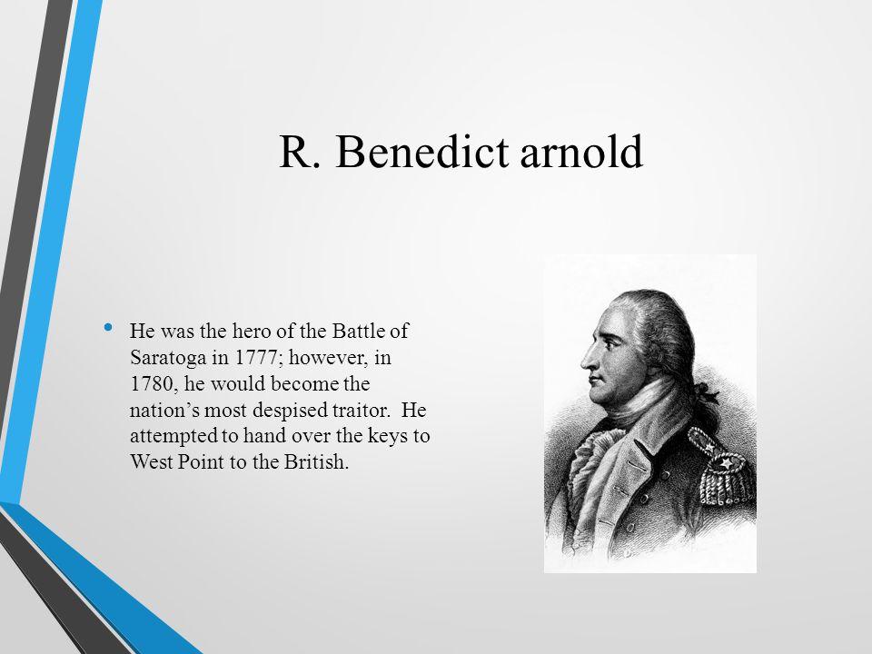 R. Benedict arnold