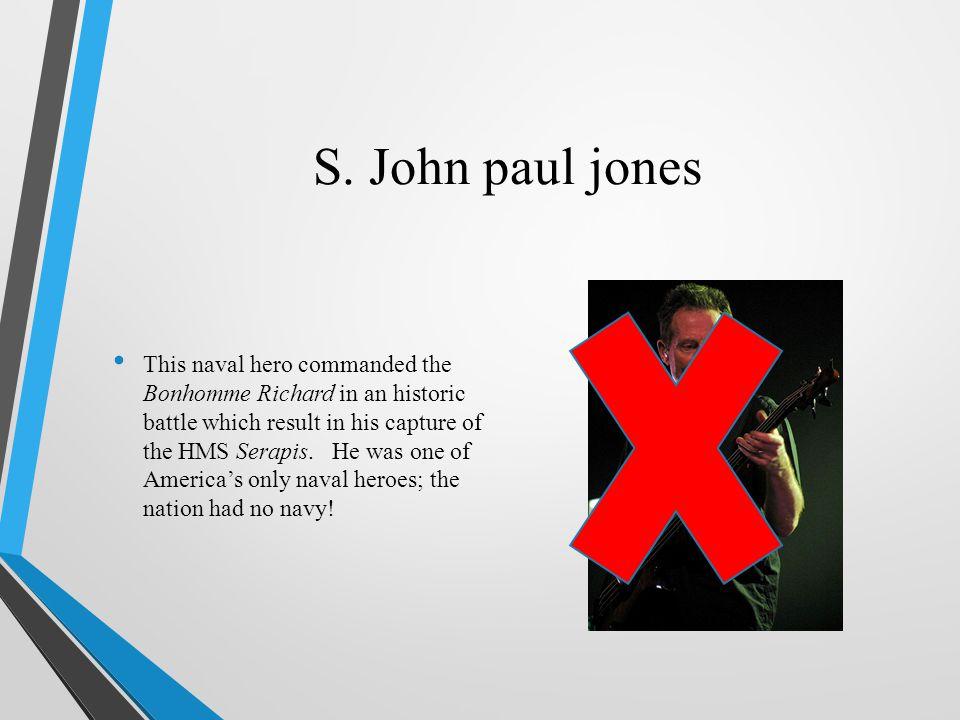 S. John paul jones
