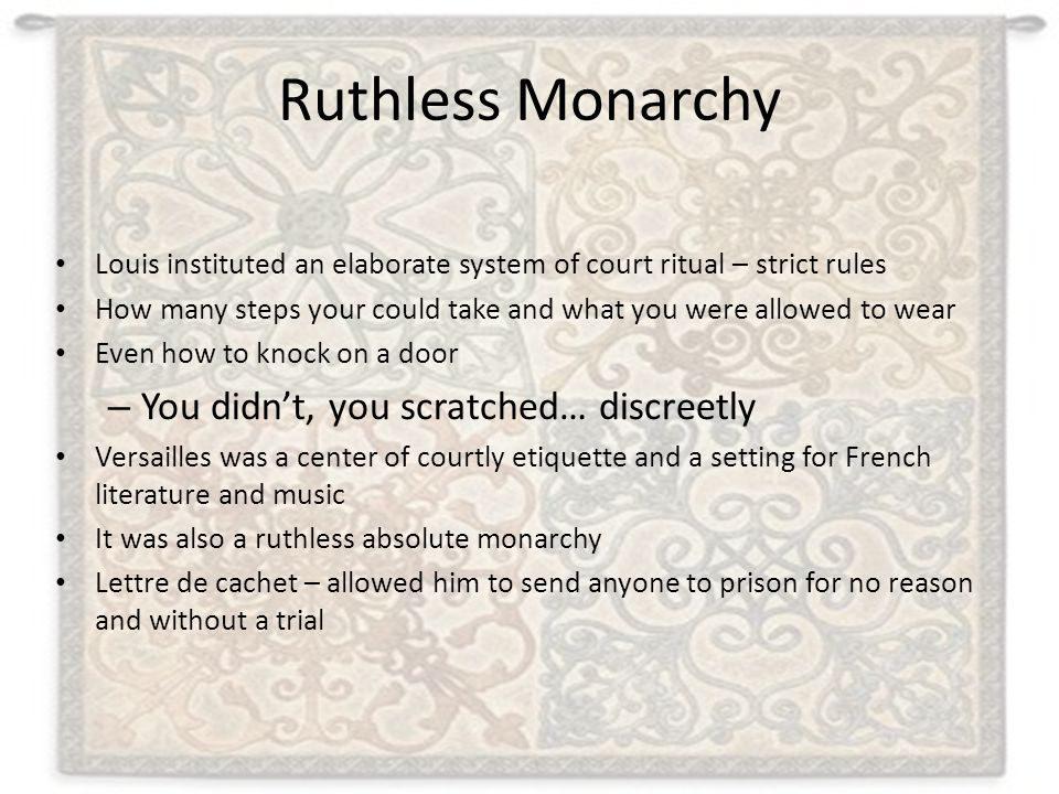 Ruthless Monarchy You didn't, you scratched… discreetly
