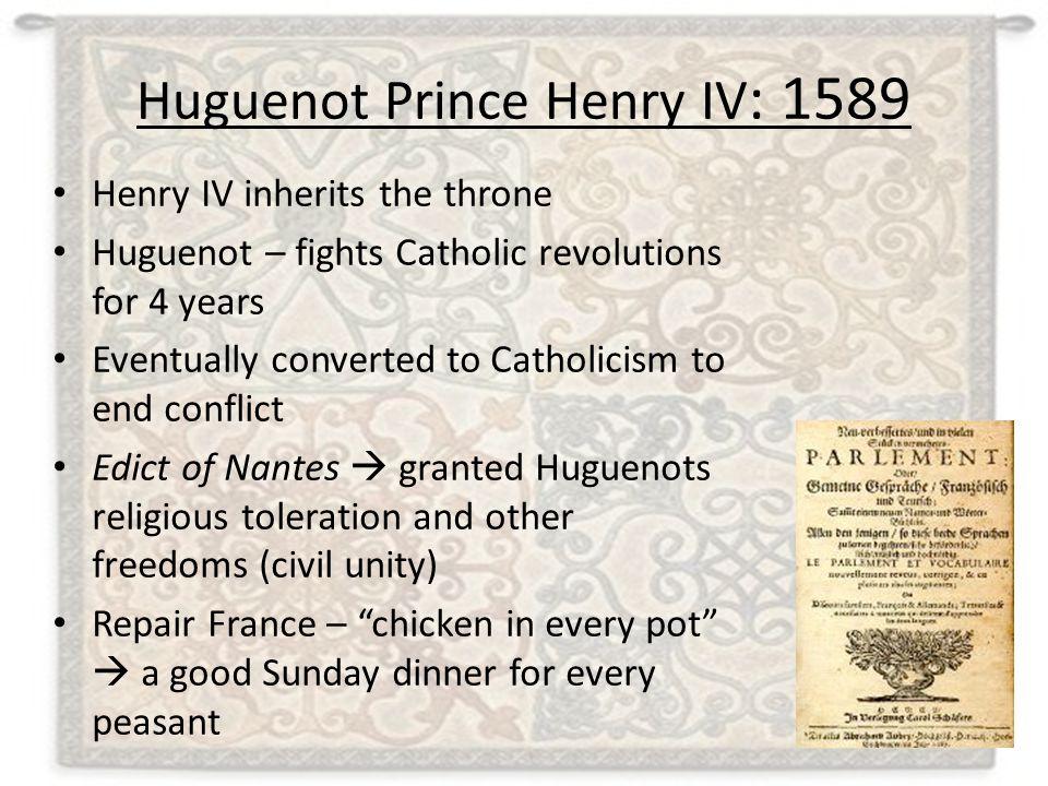Huguenot Prince Henry IV: 1589