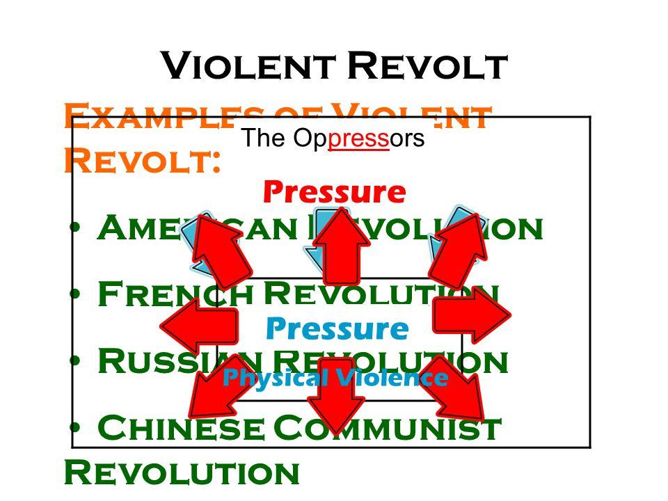 Violent Revolt Examples of Violent Revolt: American Revolution