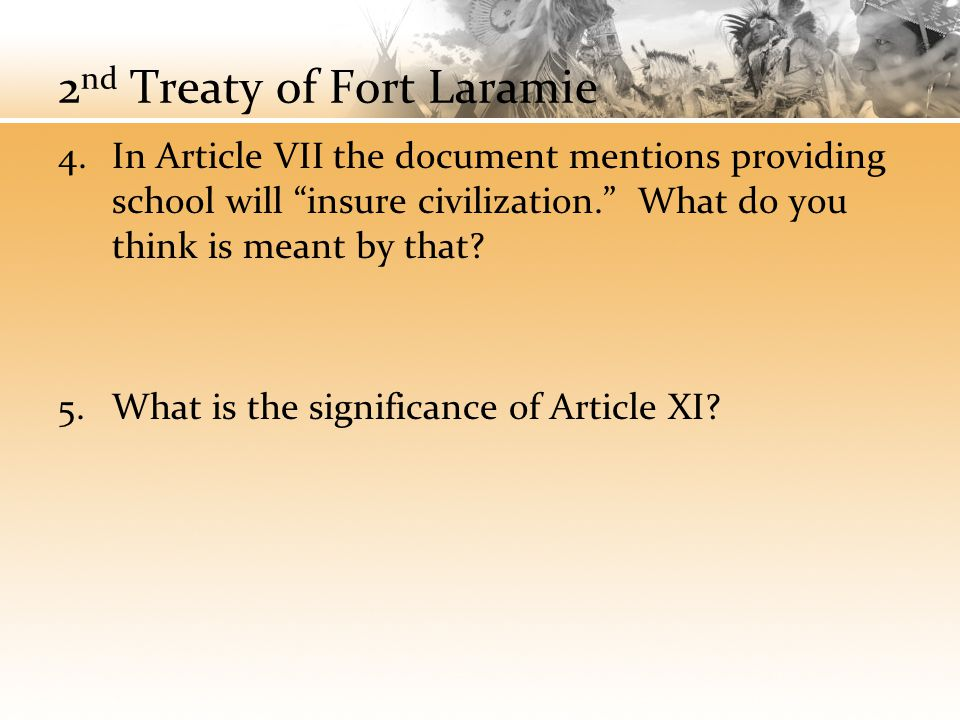 2nd Treaty of Fort Laramie