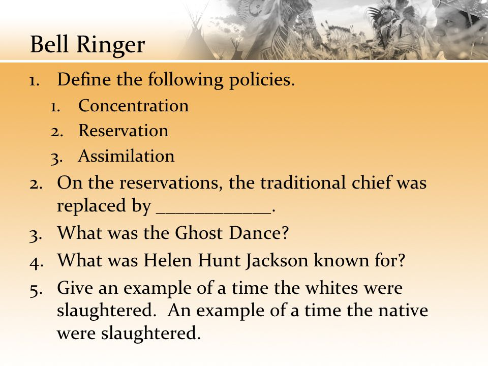 Bell Ringer Define the following policies.