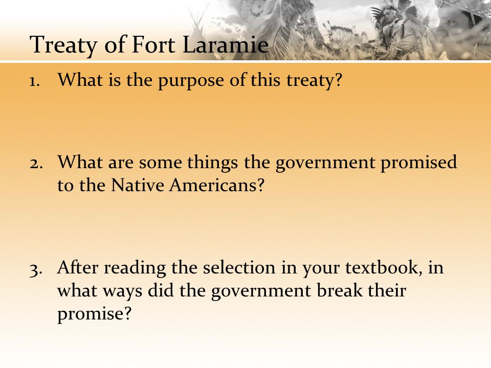Treaty of Fort Laramie What is the purpose of this treaty