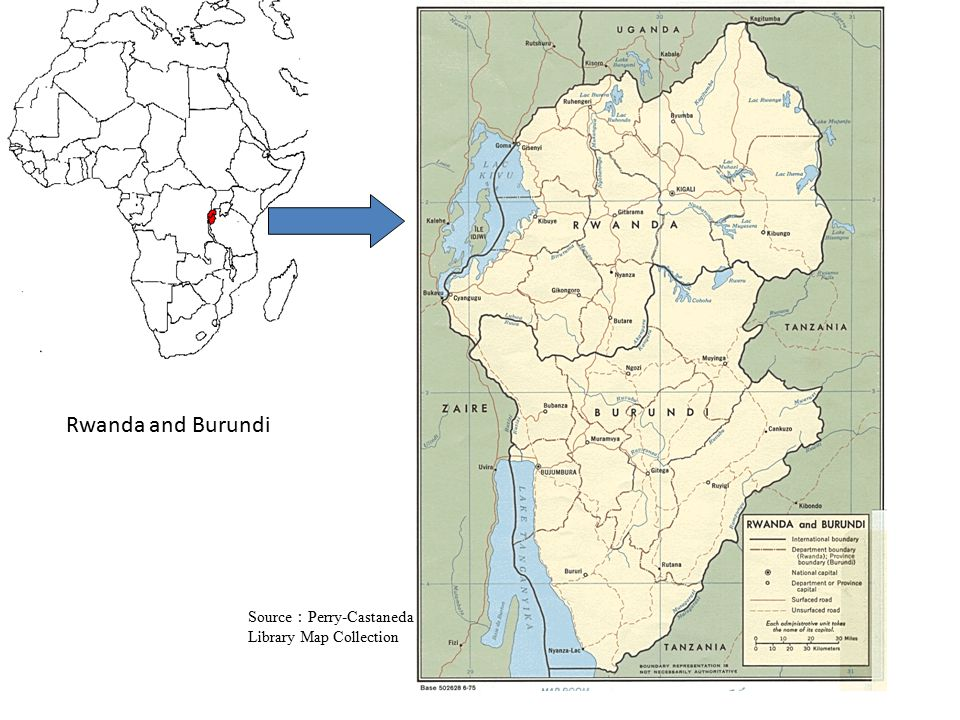 Rwanda and Burundi Source:Perry-Castaneda Library Map Collection