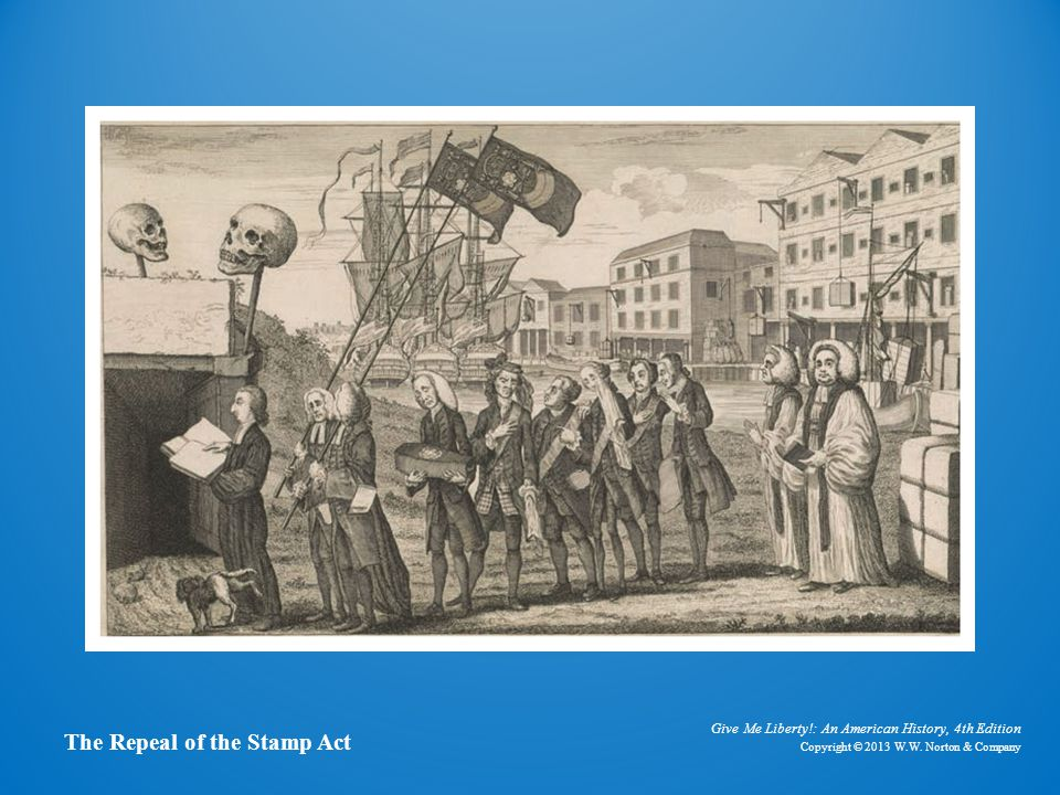 Funeral procession for stamp act