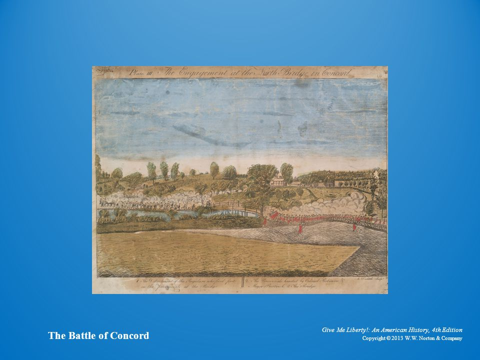 Painting the battle of concord