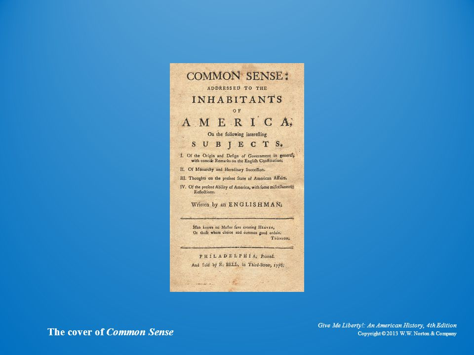 Cover of common sense The cover of Common Sense