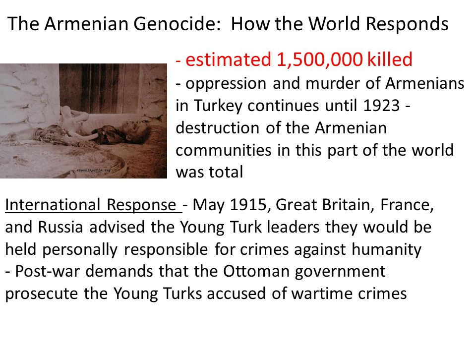 The Armenian Genocide: How the World Responds