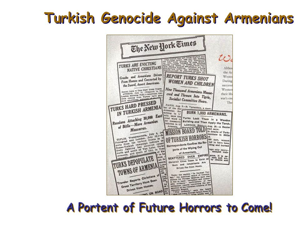 Turkish Genocide Against Armenians