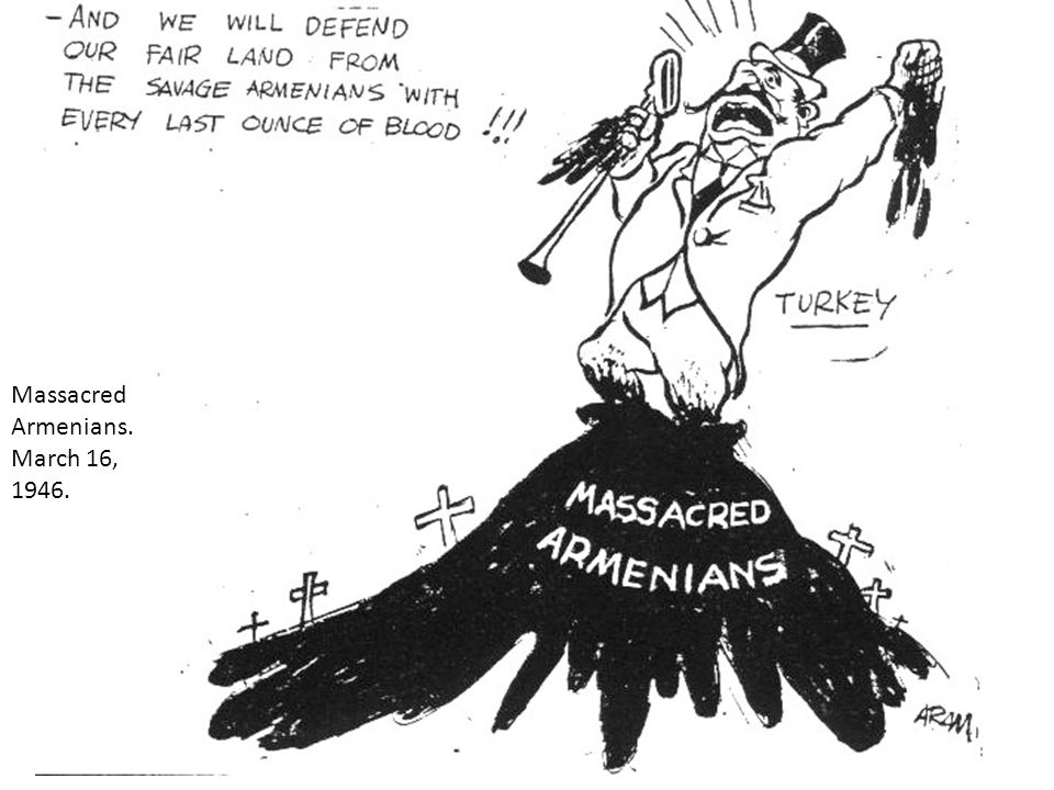 Massacred Armenians. March 16, 1946.