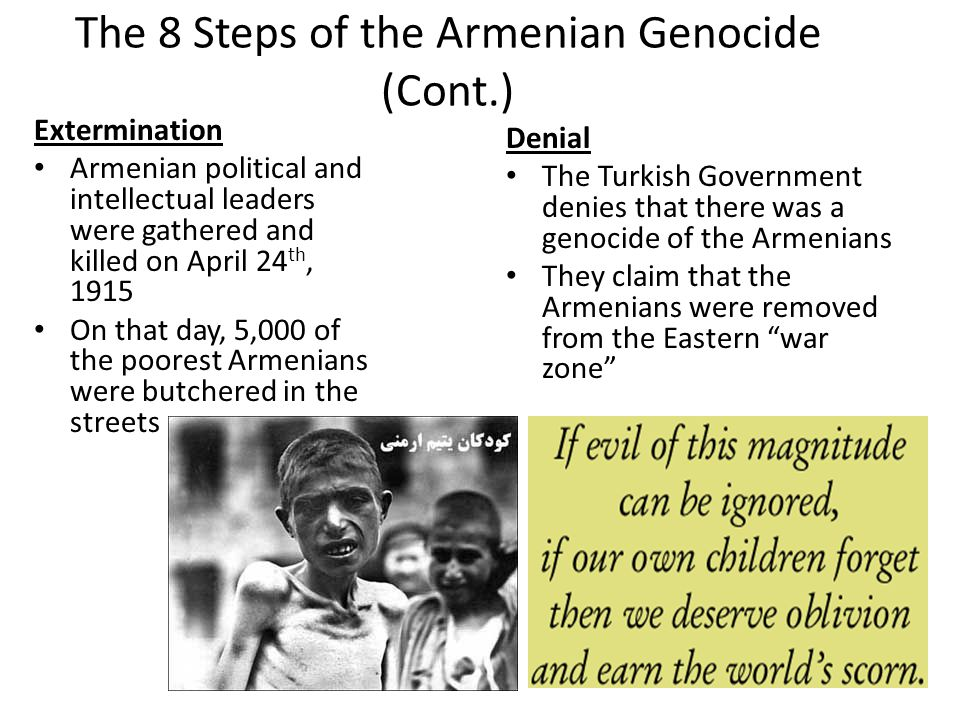 The 8 Steps of the Armenian Genocide (Cont.)