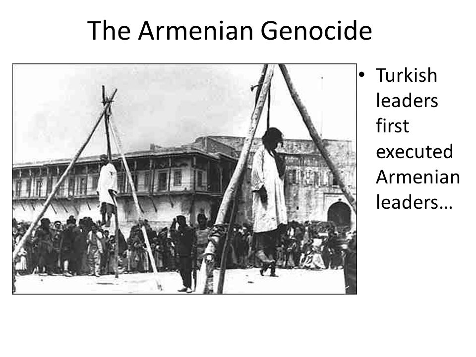 The Armenian Genocide Turkish leaders first executed Armenian leaders…