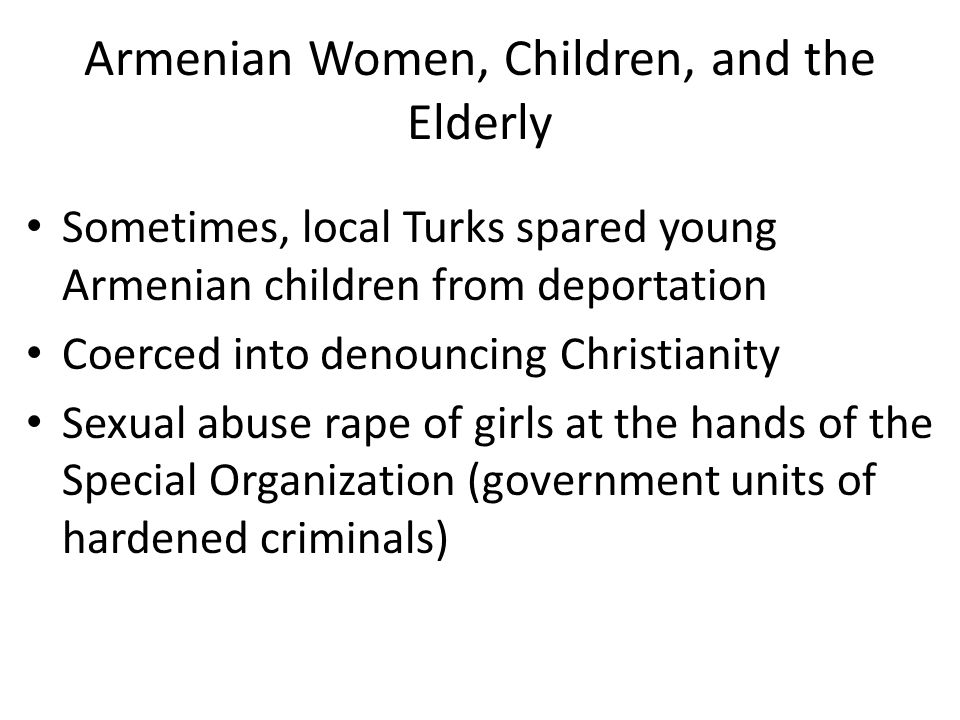 Armenian Women, Children, and the Elderly