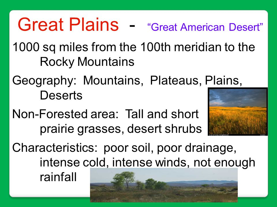 Great Plains - Great American Desert