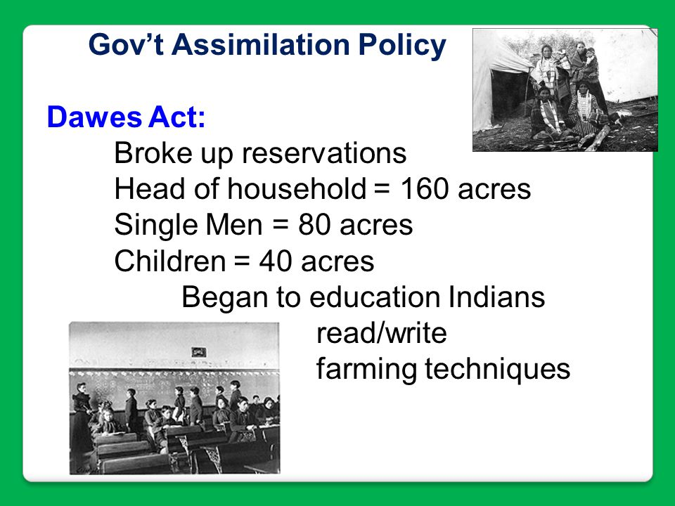 Gov't Assimilation Policy