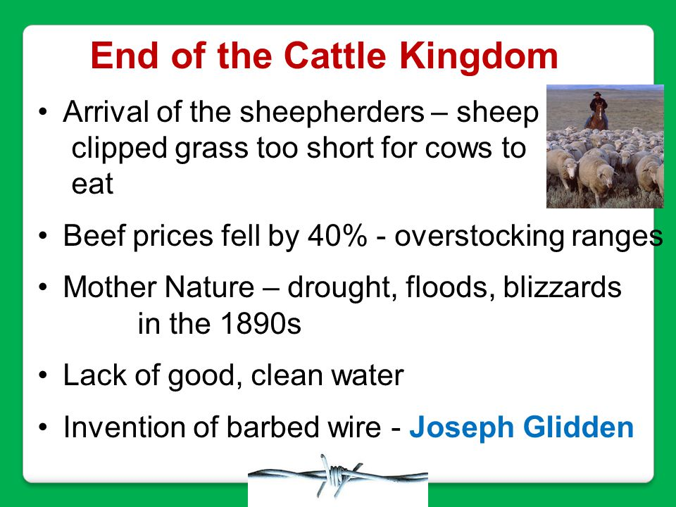 End of the Cattle Kingdom