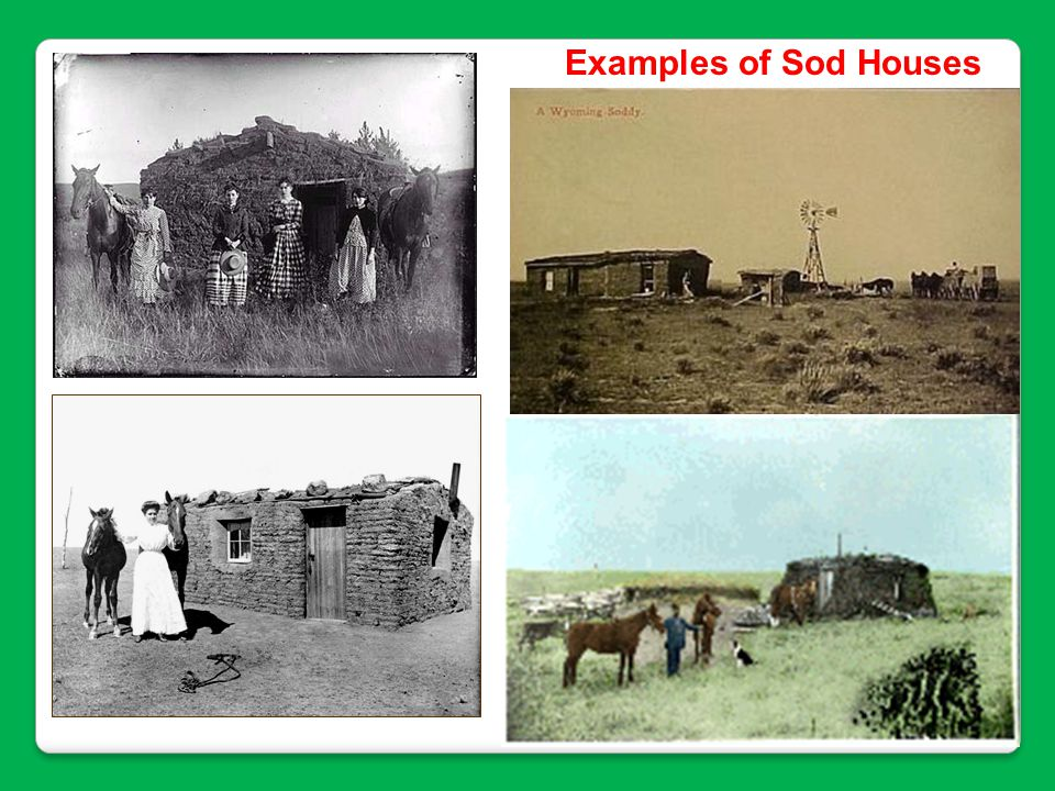Examples of Sod Houses
