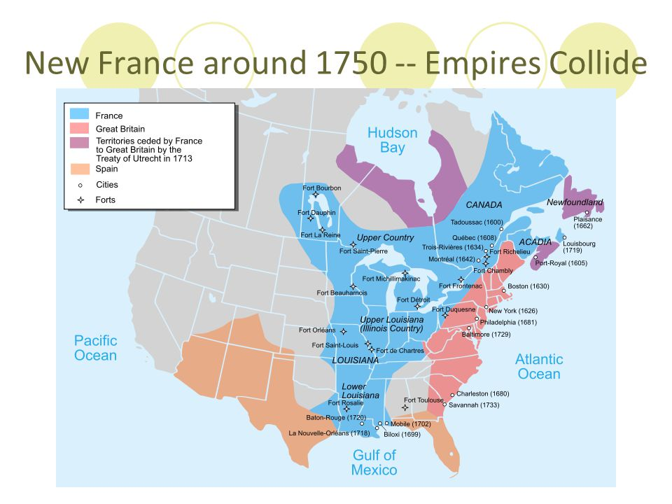 New France around 1750 -- Empires Collide