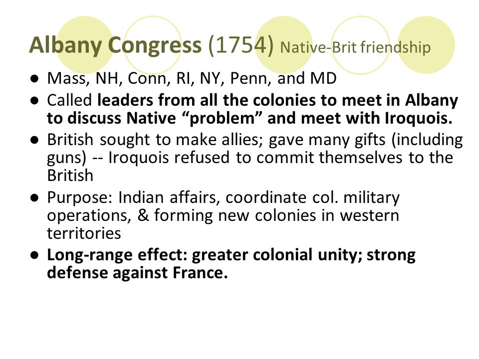 Albany Congress (1754) Native-Brit friendship