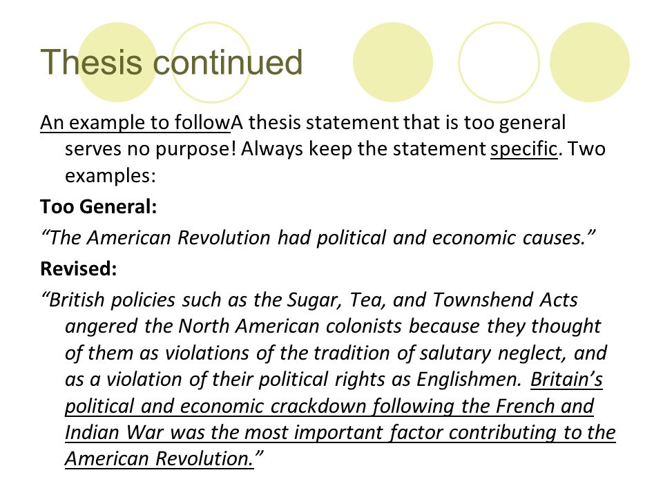 thesis statements about the american revolution Essay on american revolution: free examples of essays, research and term papers examples of american revolution essay topics, questions and thesis satatements.