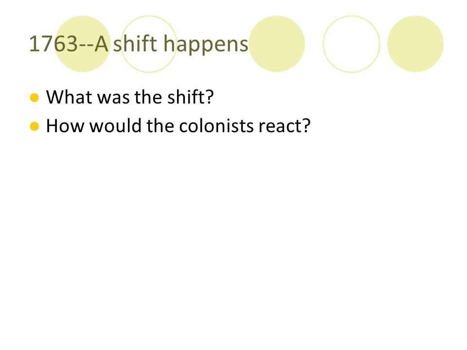 1763--A shift happens What was the shift