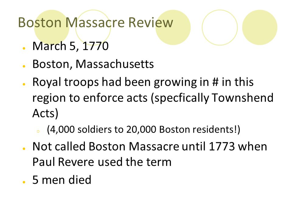 Boston Massacre Review