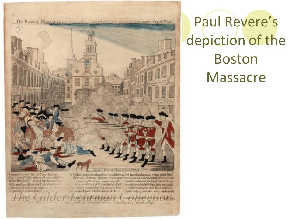 Paul Revere's depiction of the Boston Massacre