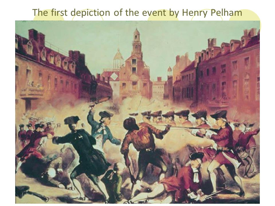 The first depiction of the event by Henry Pelham