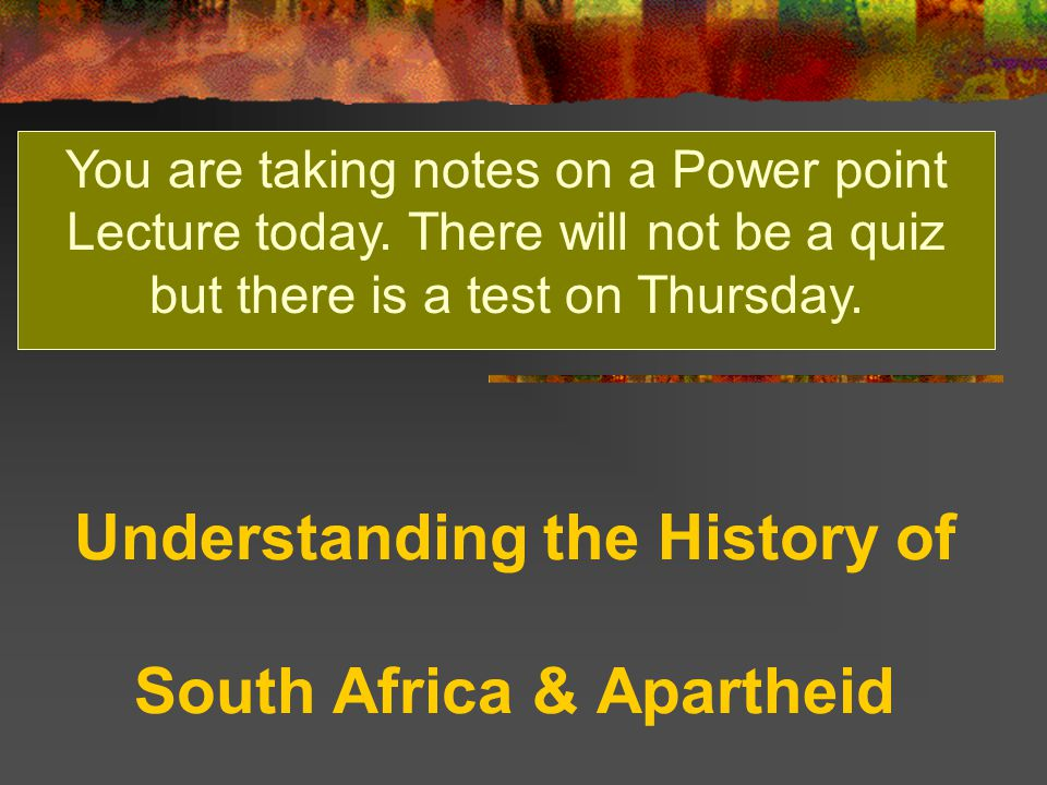 the history of south africa essay History of apartheid in south africa apartheid the word alone sends a shiver down the spines of the repressed african community apartheid represents a mordant period in the history of south africa, when the policy of segregation and political and economic discriminating against non-european groups in the republic of south africa.
