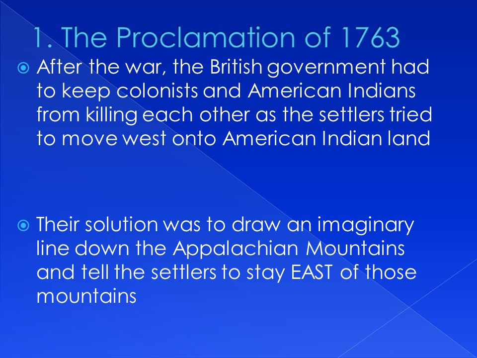 1. The Proclamation of 1763