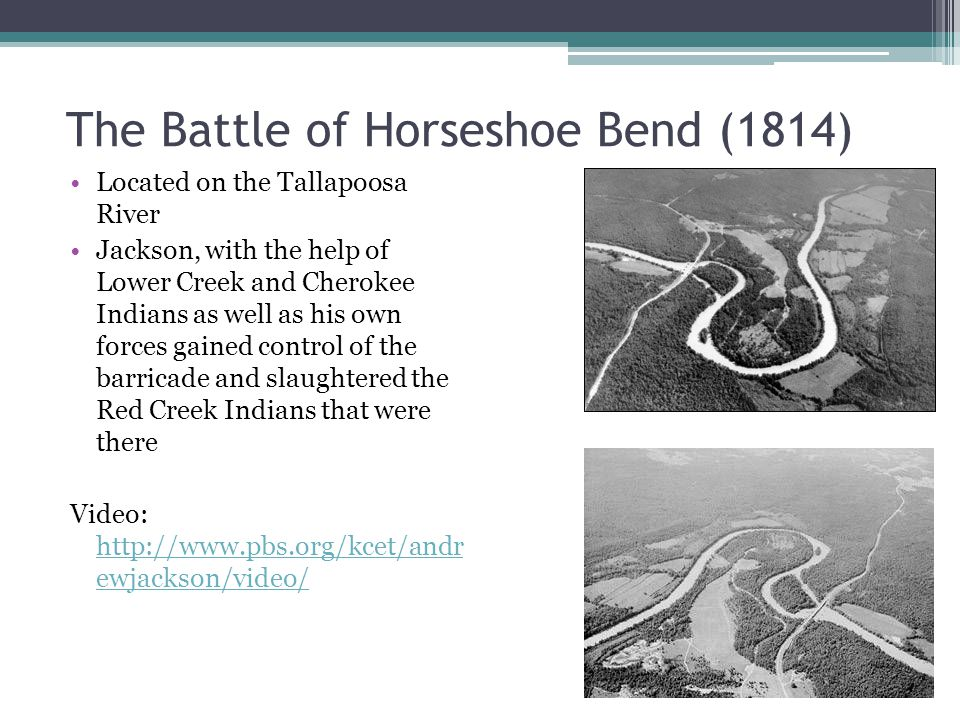 The Battle of Horseshoe Bend (1814)