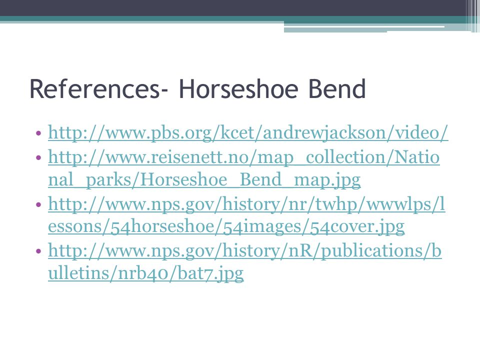 References- Horseshoe Bend