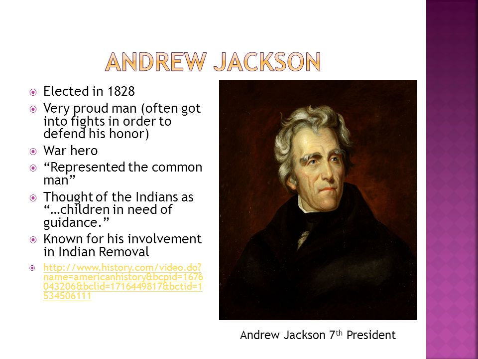 Andrew Jackson Elected in 1828