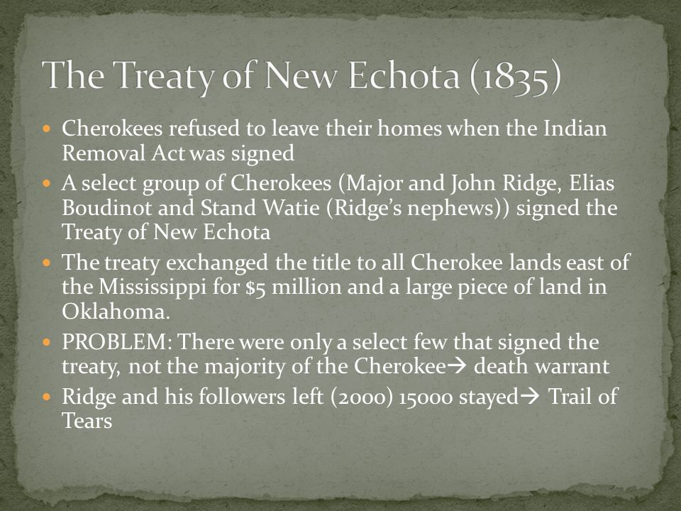 The Treaty of New Echota (1835)