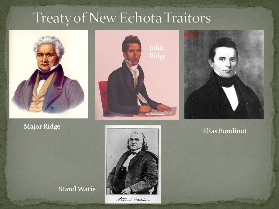 Treaty of New Echota Traitors