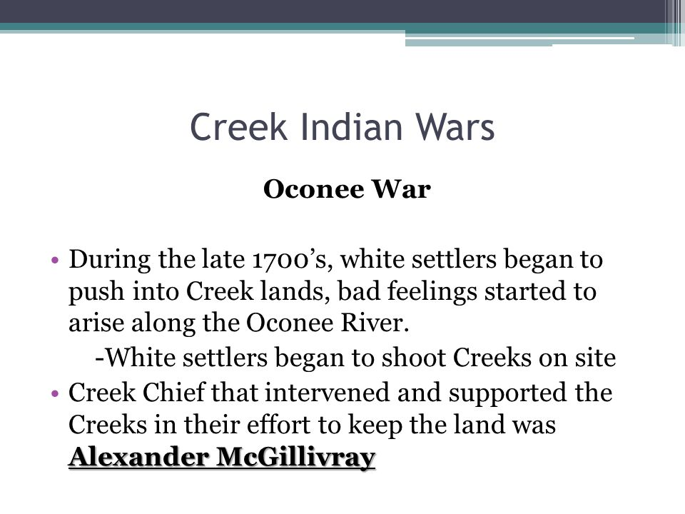 Creek Indian Wars Oconee War