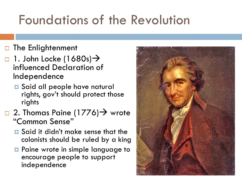 Foundations of the Revolution