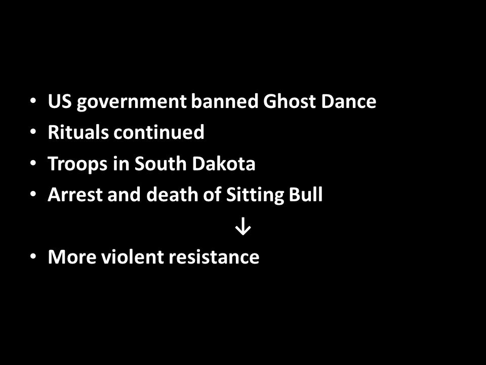 US government banned Ghost Dance