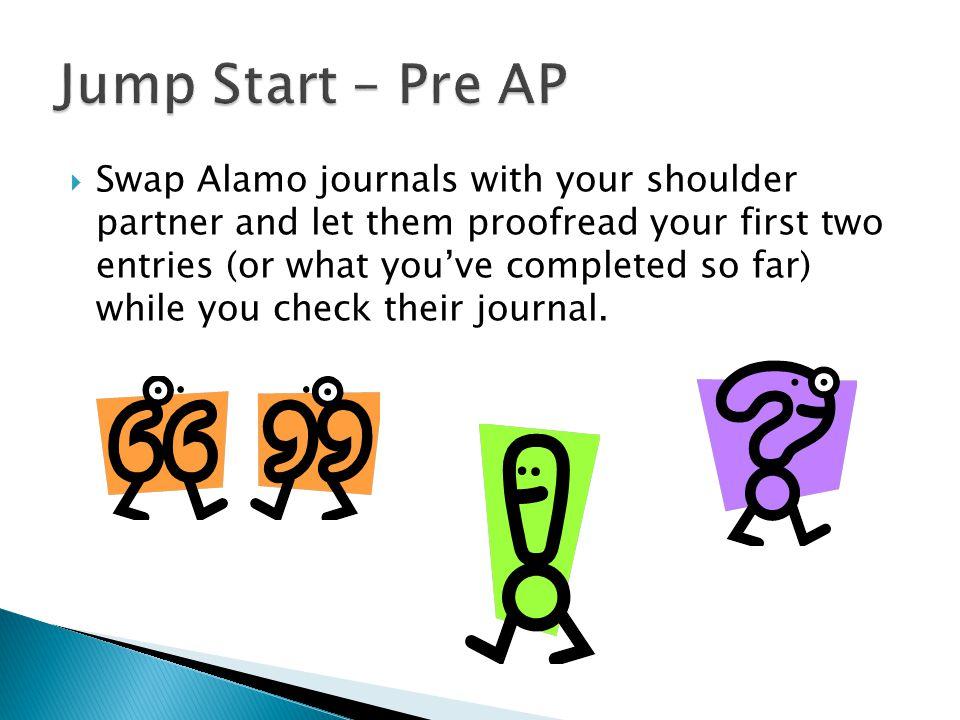 Jump Start – Pre AP