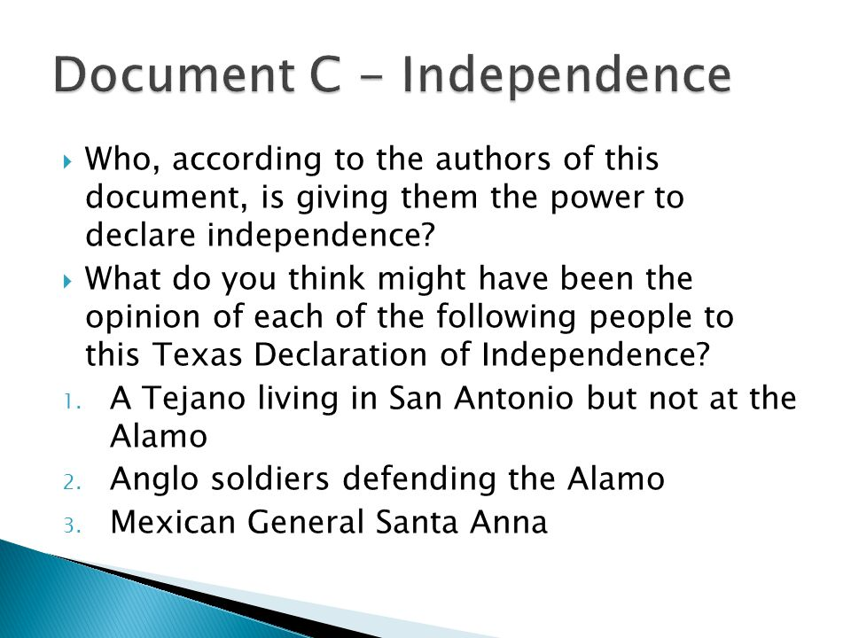 Document C - Independence