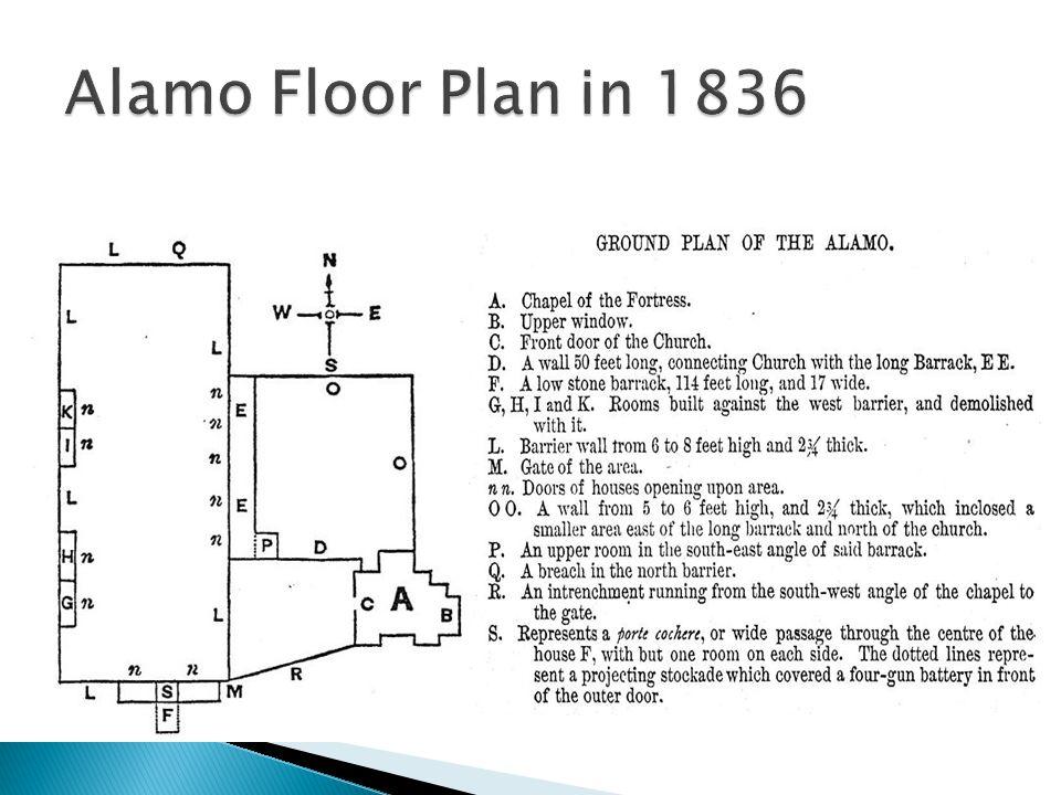 Alamo Floor Plan in 1836