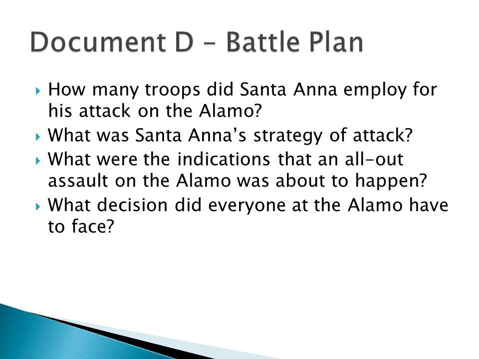 Document D – Battle Plan