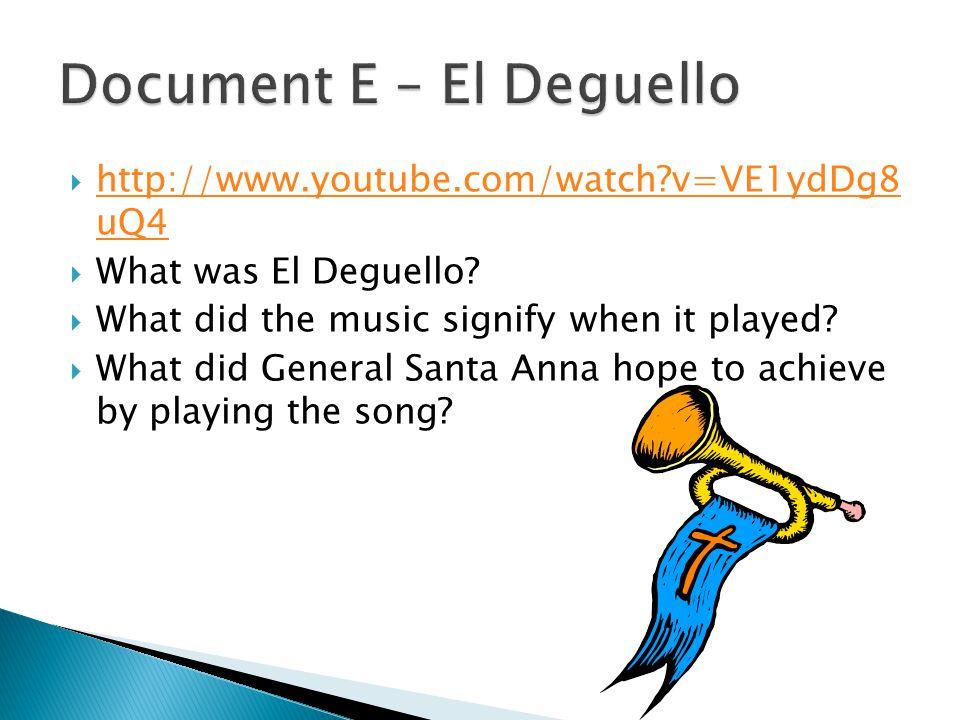 Document E – El Deguello