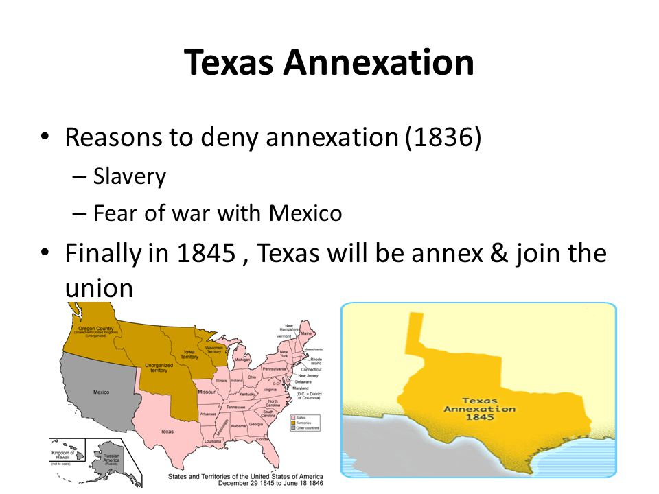 Texas Annexation Reasons to deny annexation (1836)