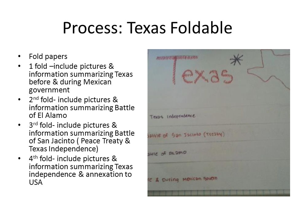 Process: Texas Foldable