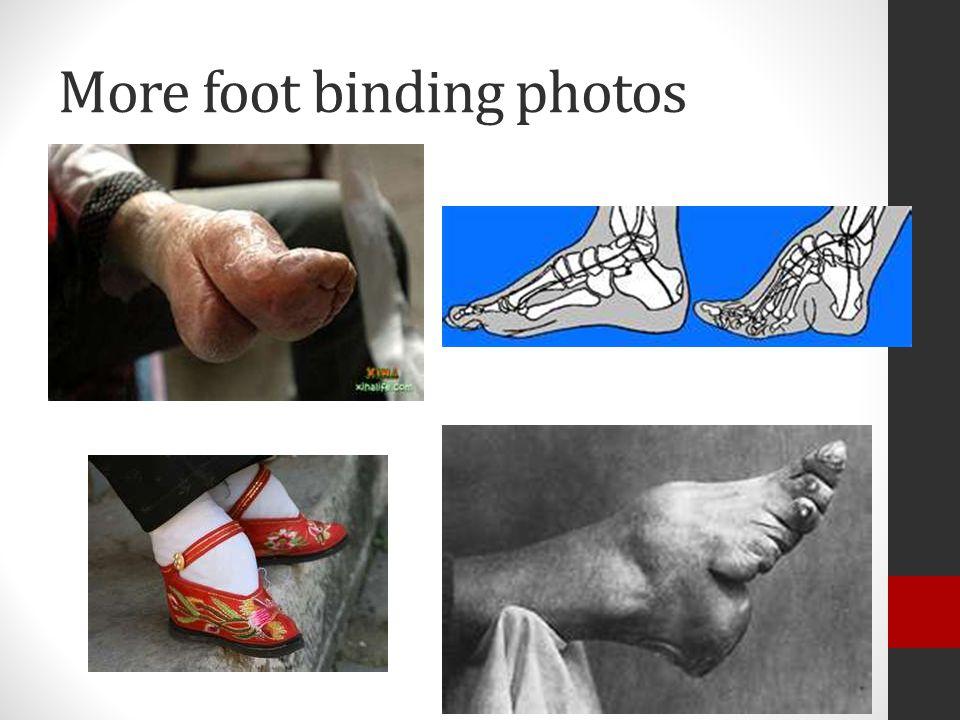 More foot binding photos
