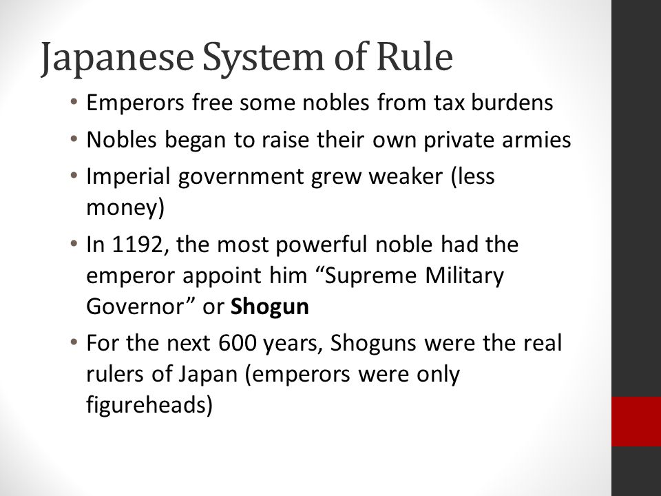Japanese System of Rule