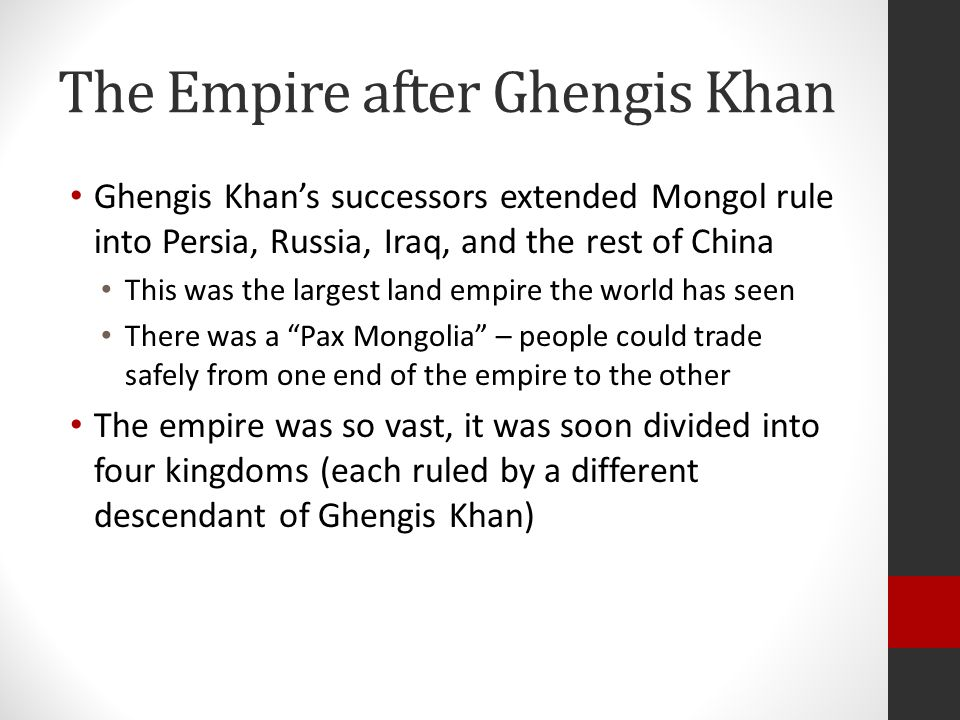 The Empire after Ghengis Khan