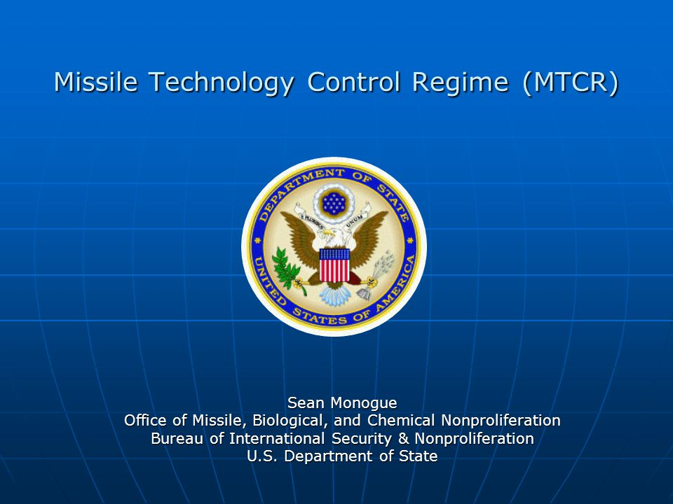 Missile Technology Control Regime (MTCR)